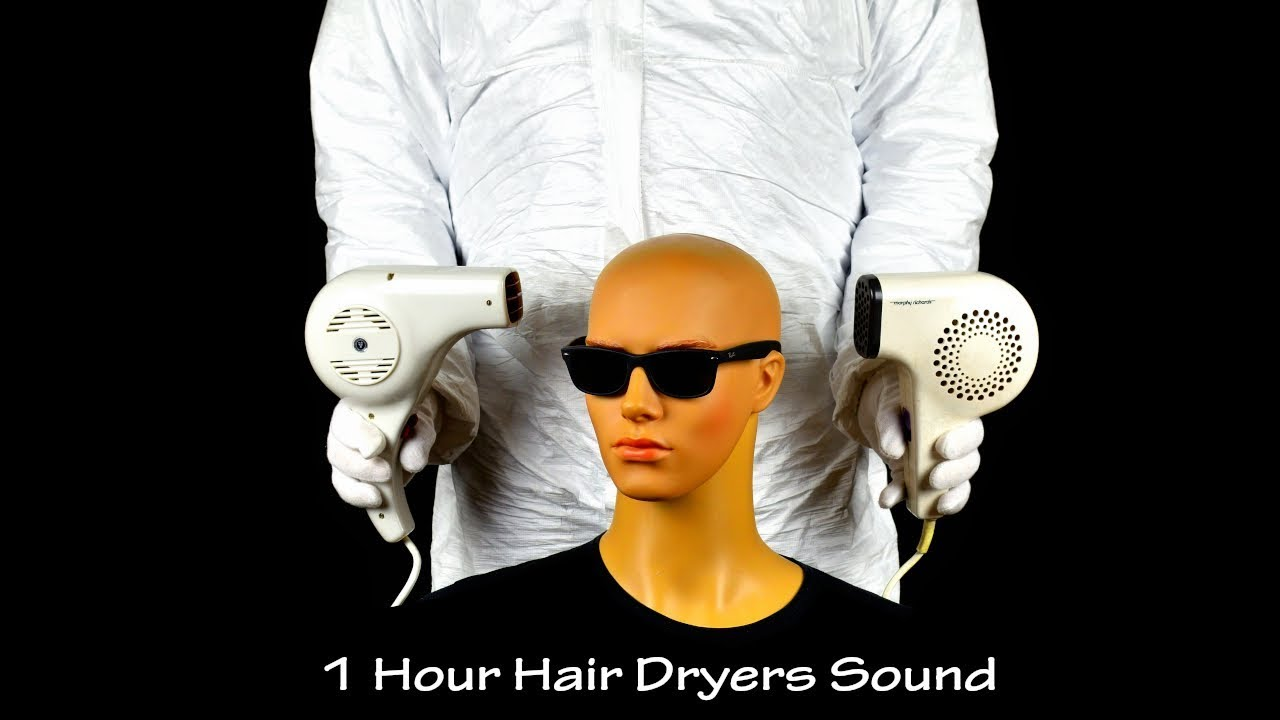 Two Hair Dryers Sound 8 | ASMR | 1 Hour Lullaby to Sleep