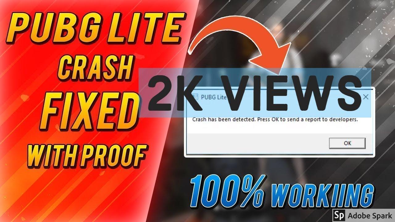 how to fix pubg Pc lite crashing in Garena fix pubg lite error crash has  been detected 100% working