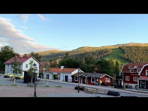 Sweden Walks: Åre, Mountain Town In Summer, 4k, Natural Sound