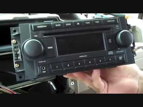 Jeep Cherokee Stereo Wiring Diagram Grand 1998 Radio Compass Aux-jack And Removal 2007 - 2008 Youtube