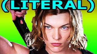 LITERAL Resident Evil Afterlife Trailer Parody