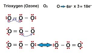 Chemistry - Chemical Bonding (26 of 35) Lewis Structures - Resonance Structures - Ozone O3