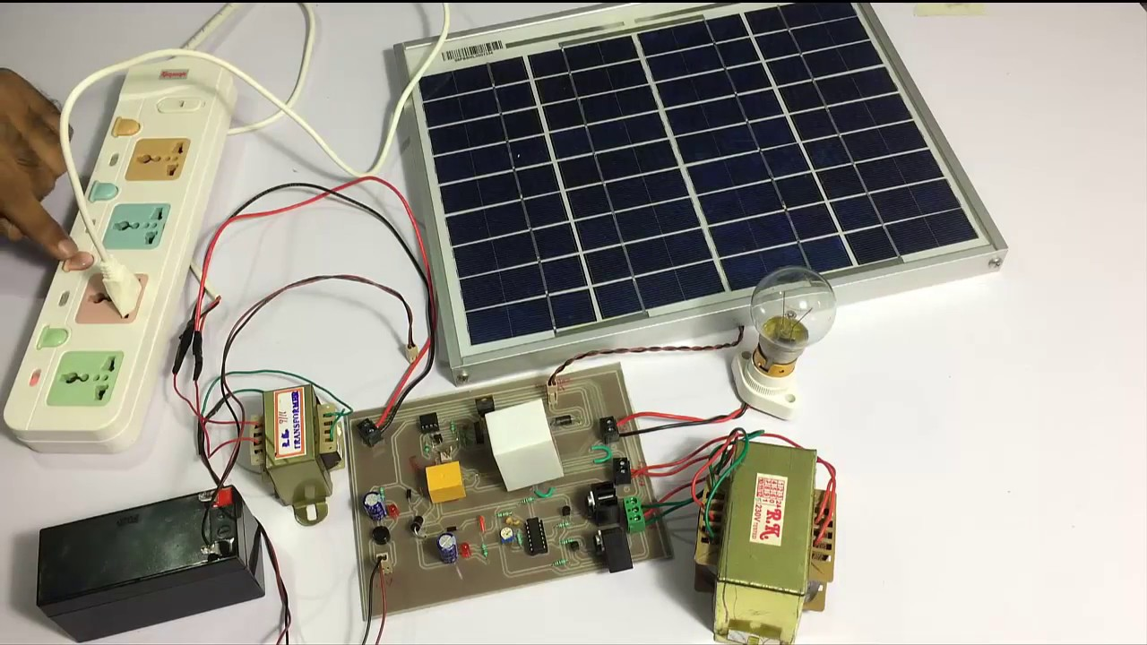 Hybrid Inverter With Solar Battery Charging System  YouTube