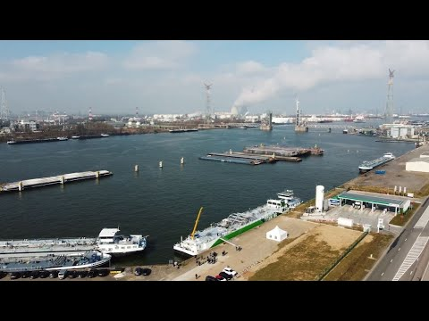 FlexFueler002 - the first LNG bunker barge at the port of Antwerp