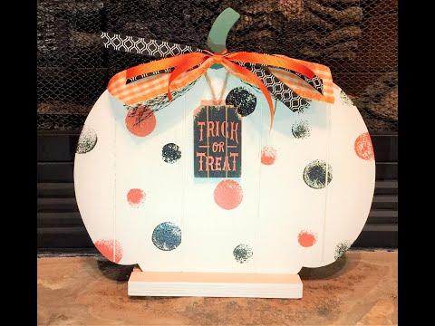 DIY Crafts - Make a Wood Pumpkin - DIY Fall Craft