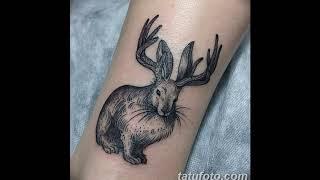 Значение тату заяц - коллекция примеров готовых татуировок на фото