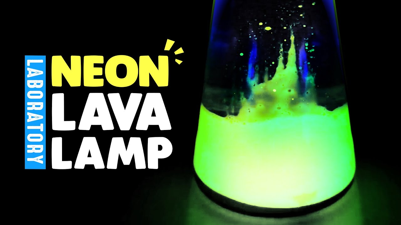 DIY Neon Lava Lamp Laboratory MonsterKids