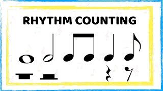 Counting rhythms: Whole, half, quarter, eighth notes and rests