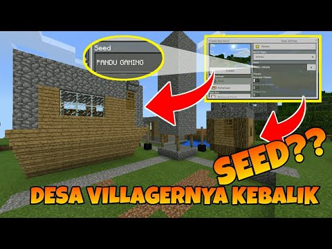 Seed Wooww Desa Villager Terbalik Minecraft Pocket Edition Mcpe