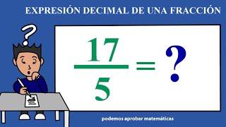 Expresion Decimal De Una Fraccion Ejercicio 03 Youtube