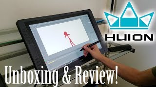 ALAN BECKER - Huion KAMVAS GT-221 Pro Unboxing & Review