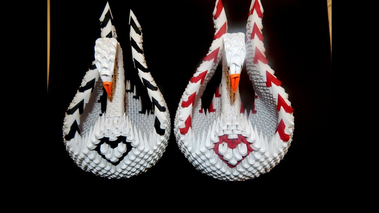 3D Origami | origami swan | triangular pieces | Golden Venture Folding | 720x1280