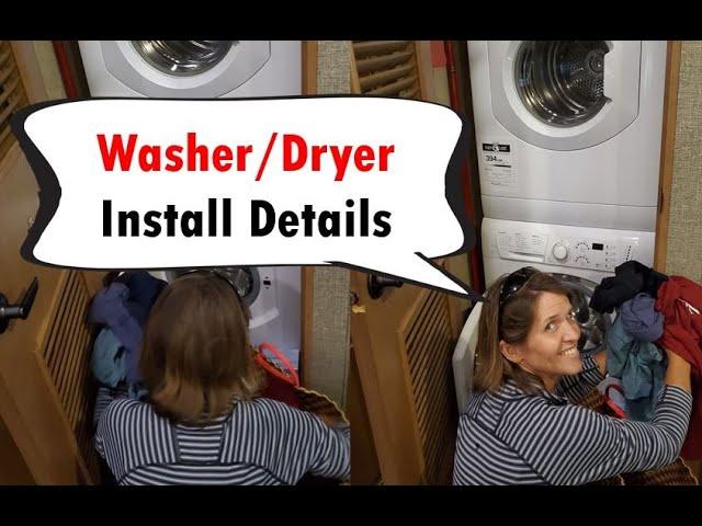 Install Tips for Splendide - RV Washer & Dryer