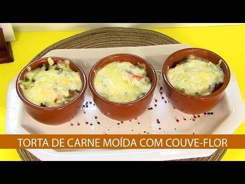 TORTA DE CARNE MOÍDA COM COUVE-FLOR