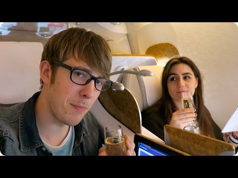 Business Class Auckland to Dubai to London! | Evan Edinger Travel