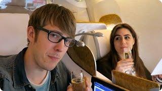 Business Class Auckland to Dubai to London! | Evan Edinger Travel