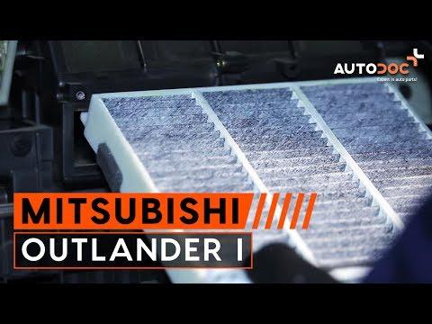Kaip pakeisti salono filtras MITSUBISHI OUTLANDER 1 PAMOKA | AUTODOC