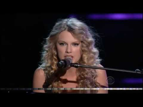 Taylor Swift-Youre not Sorry Live ACM Awards 2009 (con letra)