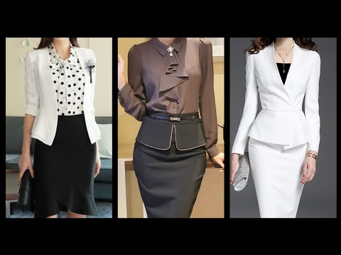 Daily Work Wear Women Elegant Two Piece Dresses With Skirts And Jacket// Slimfit Dresses
