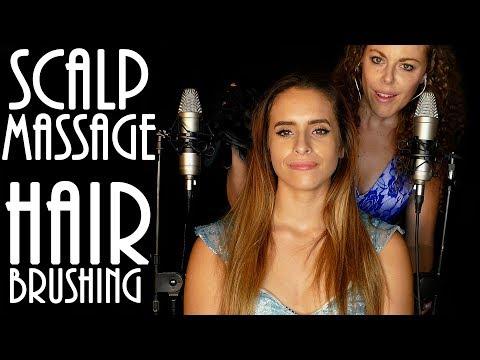 Beautiful Head & Scalp Massage. Hair Brushing, ASMR Whisper