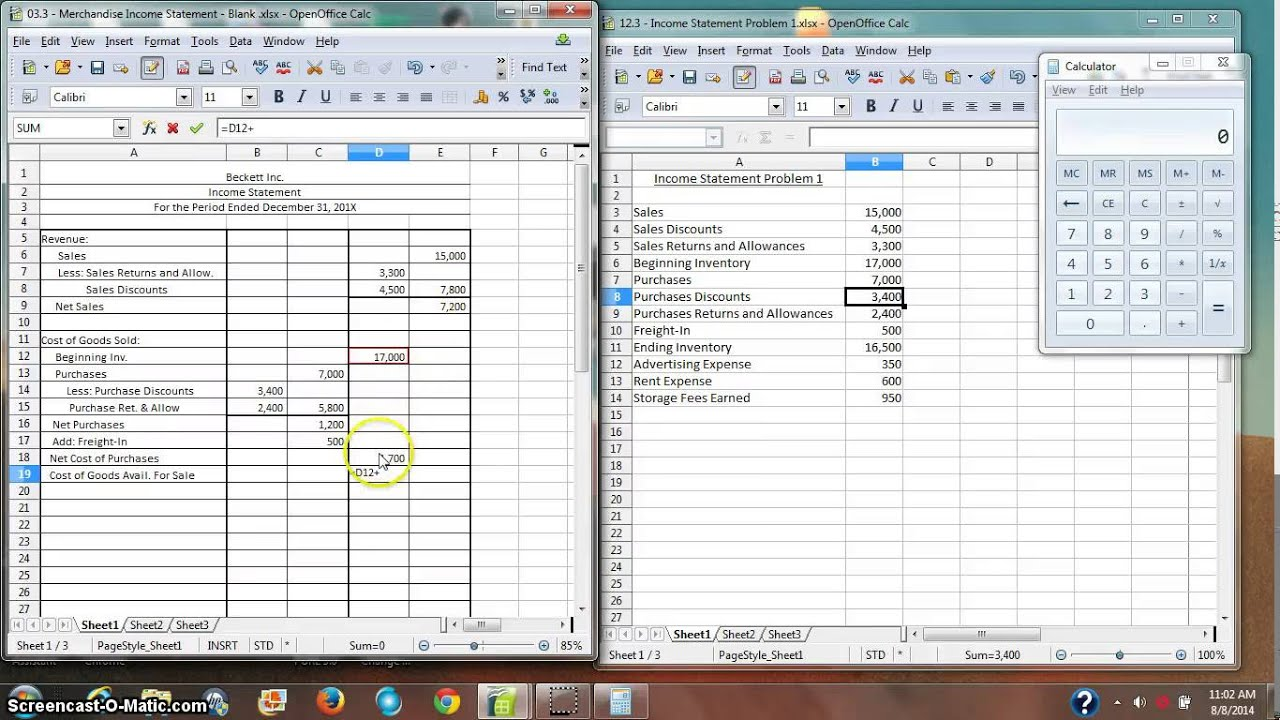 Merchandise Inventory Income Statement - YouTube