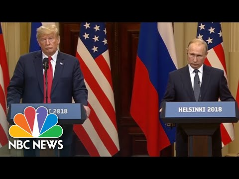 President Trump: 'I Hold Both Countries Responsible' For Poor U.S.-Russia Relations | NBC News