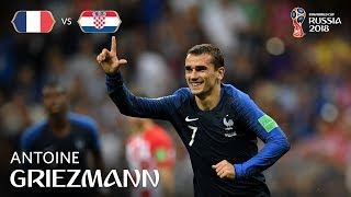 antoine griezmann goal  france v croatia - 2018 fifa world cup final