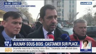 Incendie à Aulnay-sous-Bois: Castaner affirme que