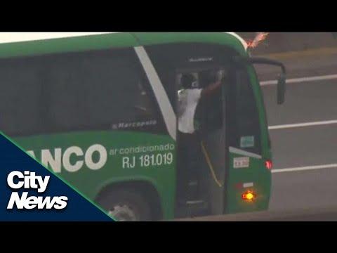 Police sniper kills armed bus hijacker in Brazil