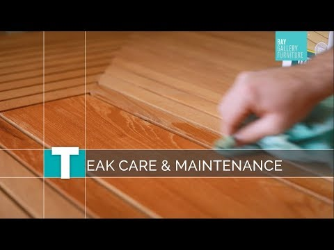 Teak Outdoor Furniture Care And Maintenance Youtube