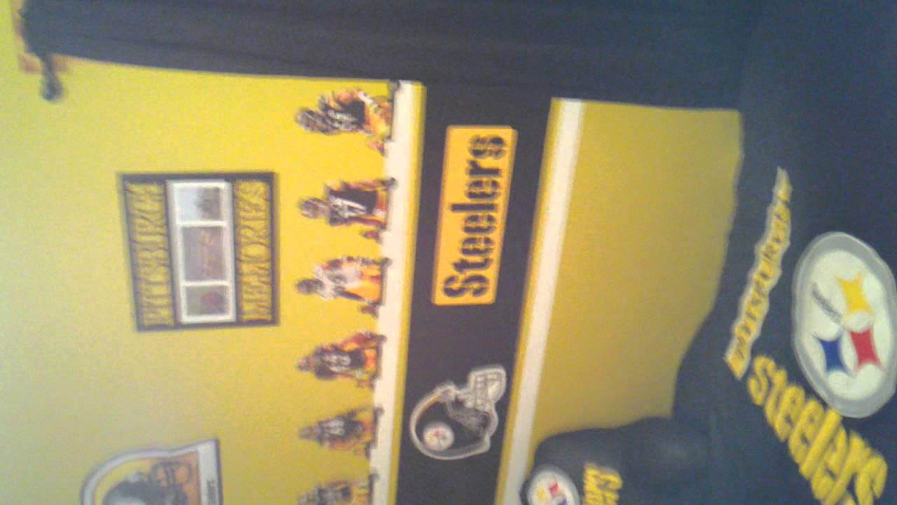 Steelers Bedroom Ideas Gavin's Steeler Bedroom  Youtube