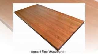 Edge Grain American Cherry Butcher Block Countertop By Armani Fine Woodworking
