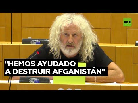 """""""La guerra en Afganistán es una mentira"""" Mick Wallace en el Parlamento Europeo"""