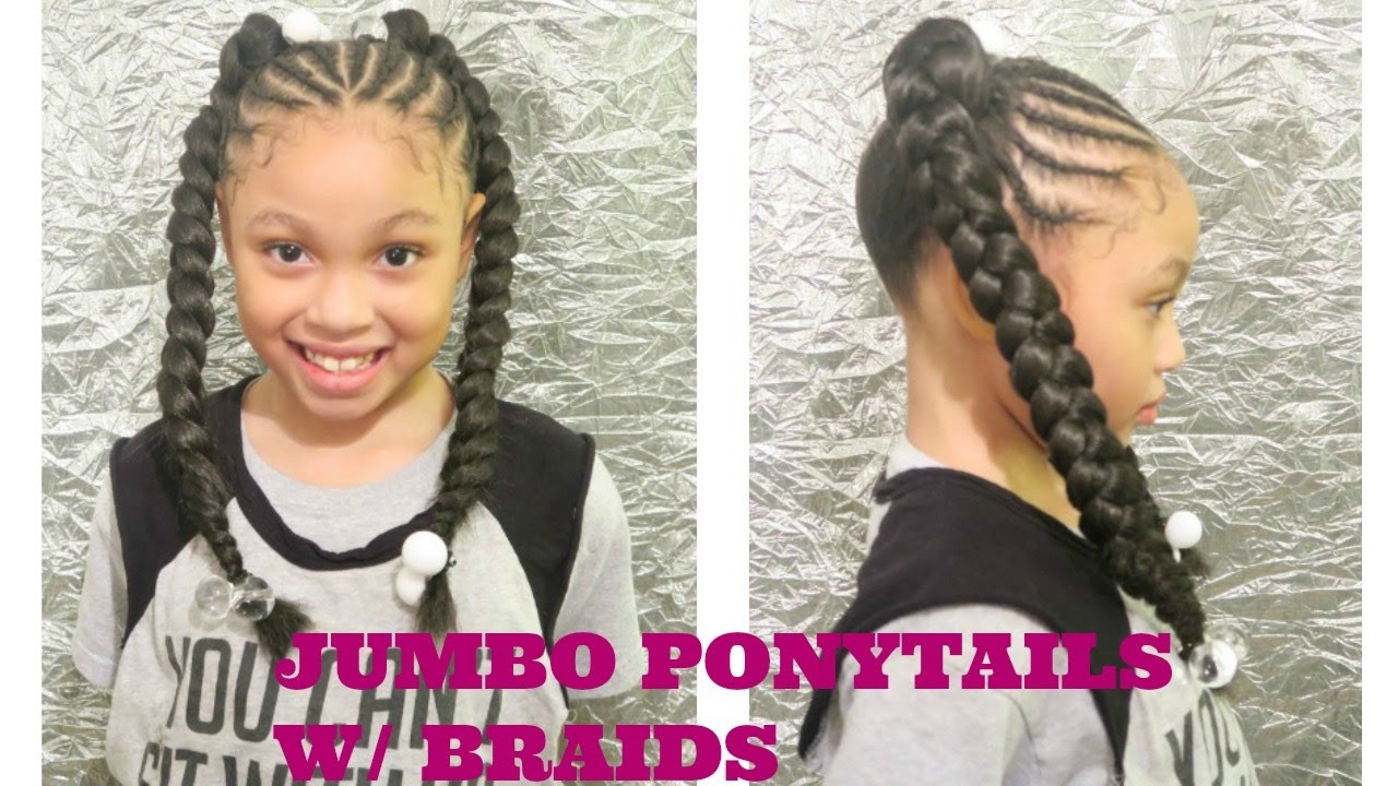 Girl ponytail black little hairstyles pictures