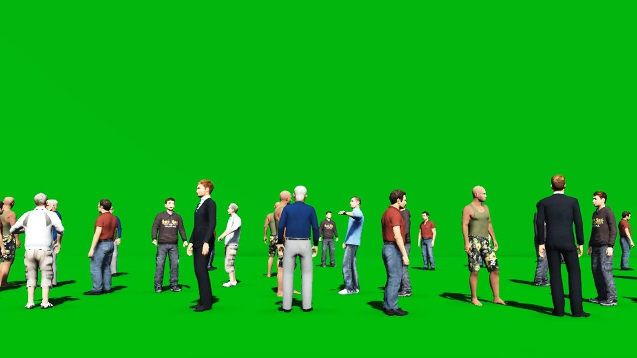 Zombies Animated Wallpaper Hd Crowd People Green Screen Youtube