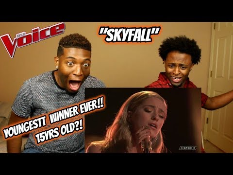 "Youngest 'The Voice' Winner Brynn Cartelli Sings""Skyfall"" (REACTION) (15 YEARS OLD!)"