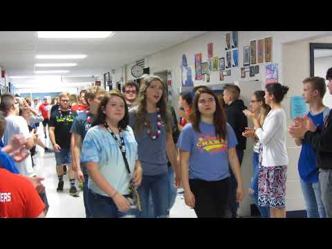 Licking Valley Middle School Clap-Out for LVHS Class of 2018 (May 22, 2018