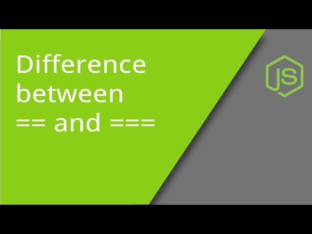 Difference Between == and === in JavaScript