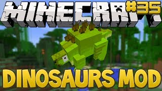 Minecraft Dinosaurs Mod (Fossils and Archaeology) Series, Episode 35 - Stegosaurus Hatches!