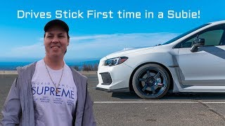 Friend Drives Stick Shift first time in a 2018 SUBARU WRX