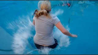 Darren Gaudry Pushes Wife In The Pool...