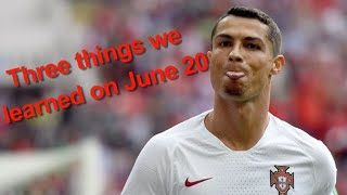 The World Cup produced three tight games on Wednesday as Portugal, ...