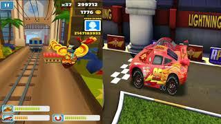 Disney Pixar Cars Lightning McQueen VS Subway Surfers LONDON England Gameplay #33