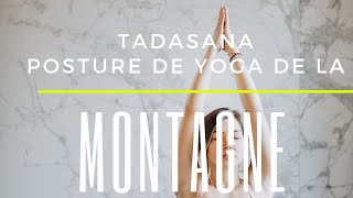 Posture de la montagne Tadasana Yoga
