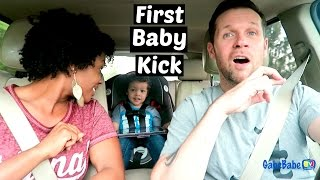 FIRST BABY KICK