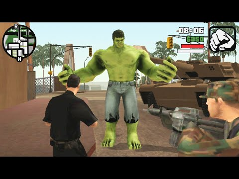 GTA San Andreas Android Best Mods 7 Hulk Cheat, New Girlfriends, GTA 4 Mod, Ragdoll And More