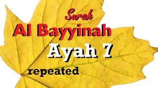 QS  98:7 (surah 98 ayat 7) » QS  Al Bayyinah » Tafsir Alquran