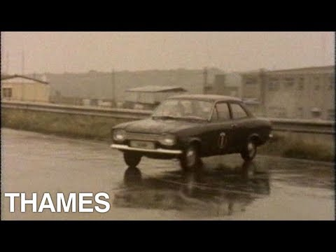 How to skid your car | Motoring show | Drive in | 1973