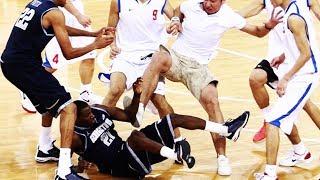 Драки и стычки в NBA за 2018 год (1 часть)