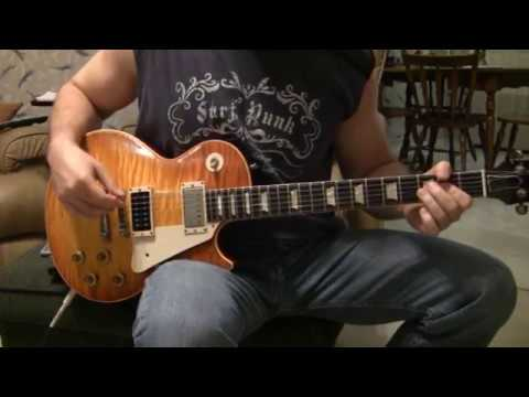 Led Zeppelin Black Dog on an aged Jimmy Page Les Paul